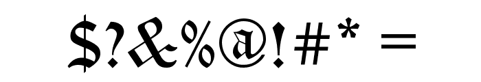 Encient German Gothic Font OTHER CHARS