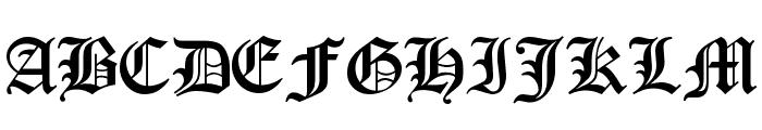 Encient German Gothic Font UPPERCASE