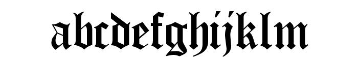 Encient German Gothic Font LOWERCASE