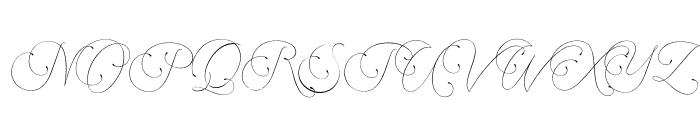 Encina Script 1 PERSONAL USE Font UPPERCASE