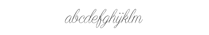 Encina Script 1 PERSONAL USE Font LOWERCASE