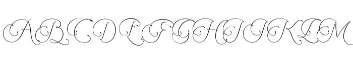 Encina Script 2 PERSONAL USE Font UPPERCASE
