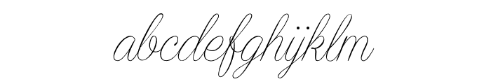 Encina Script 2 PERSONAL USE Font LOWERCASE