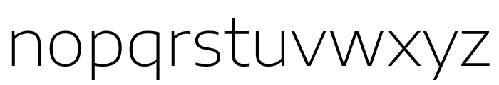 Encode Sans Expanded ExtraLight Font LOWERCASE
