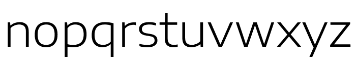 Encode Sans Expanded Light Font LOWERCASE