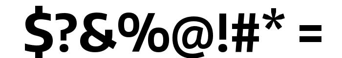 Encode Sans Narrow Bold Font OTHER CHARS