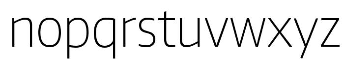 Encode Sans Narrow Thin Font LOWERCASE
