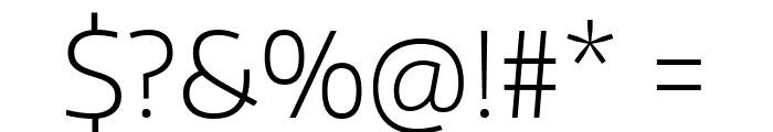 Encode Sans Normal ExtraLight Font OTHER CHARS