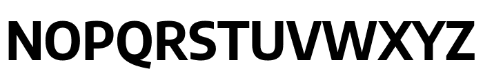 Encode Sans Semi Condensed Bold Font UPPERCASE