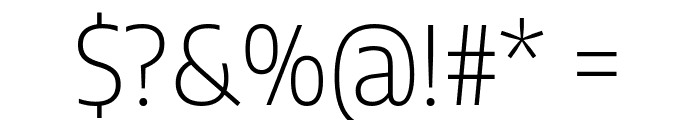 Encode Sans Semi Condensed ExtraLight Font OTHER CHARS