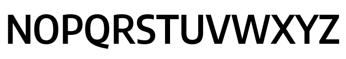 Encode Sans Semi Condensed SemiBold Font UPPERCASE