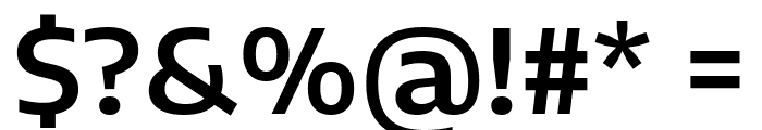 Encode Sans Semi Expanded SemiBold Font OTHER CHARS