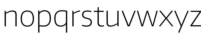 Encode Sans Thin Font LOWERCASE