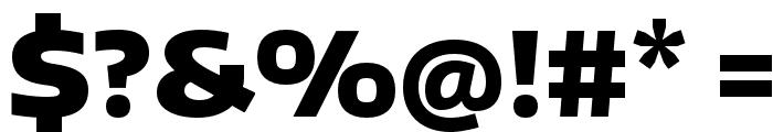 Encode Sans Wide Black Font OTHER CHARS