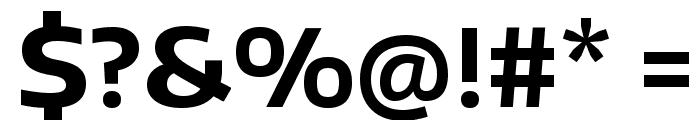 Encode Sans Wide Bold Font OTHER CHARS