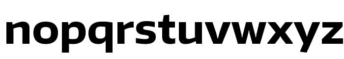 Encode Sans Wide Bold Font LOWERCASE