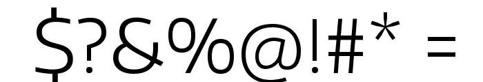Encode Sans Wide Light Font OTHER CHARS