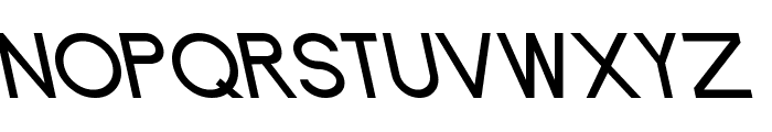 Endangered Font UPPERCASE