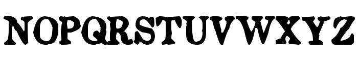 Endemic Roman Font UPPERCASE