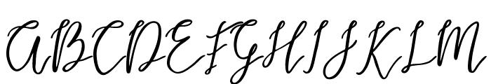Endestry Font UPPERCASE