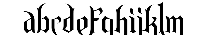 Endor Font LOWERCASE