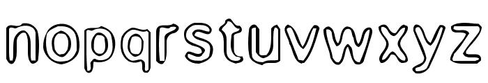 Enemafont Font LOWERCASE
