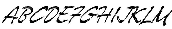 Enemell Brush Font UPPERCASE