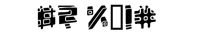 Energydimension Font OTHER CHARS