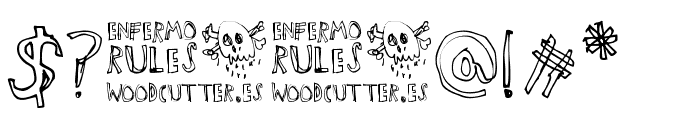 Enfermo Rules Font OTHER CHARS