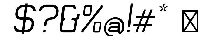 Engadi Regular Oblique Font OTHER CHARS