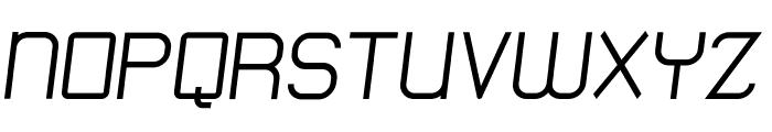 Engadi Regular Oblique Font UPPERCASE
