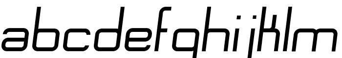 Engadi Regular Oblique Font LOWERCASE
