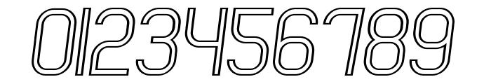 Engadi Regular Outline Oblique Font OTHER CHARS