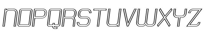 Engadi Regular Outline Oblique Font UPPERCASE