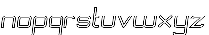 Engadi Regular Outline Oblique Font LOWERCASE
