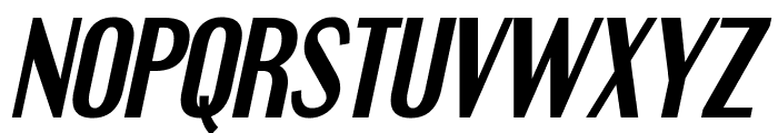 Engebrechtre-BoldItalic Font UPPERCASE