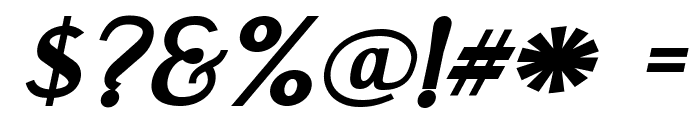 Engebrechtre Expanded Bold Italic Font OTHER CHARS