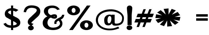 Engebrechtre Expanded Bold Font OTHER CHARS