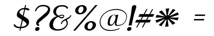 Engebrechtre Expanded Italic Font OTHER CHARS