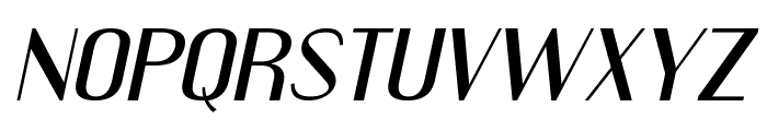 Engebrechtre Expanded Italic Font UPPERCASE