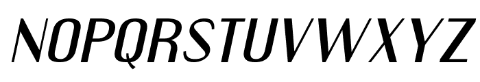 Engebrechtre Expanded Italic Font LOWERCASE