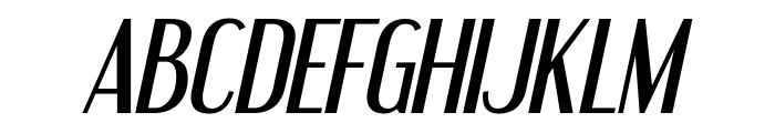 Engebrechtre-Italic Font UPPERCASE