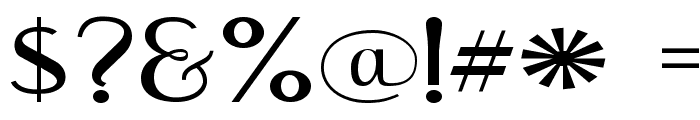 EngebrechtreExp-Regular Font OTHER CHARS