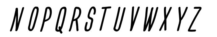 Engine Italic Font UPPERCASE