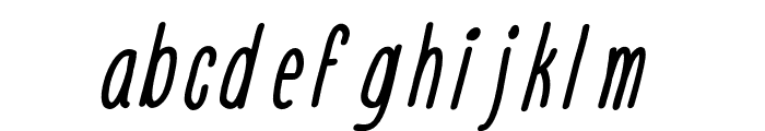 Engine Italic Font LOWERCASE