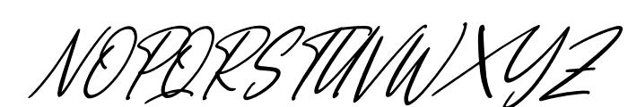 England Signature Italic Font UPPERCASE