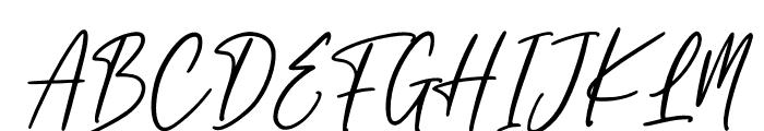 England Signature Font UPPERCASE