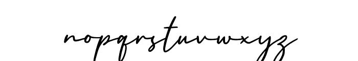 England Signature Font LOWERCASE