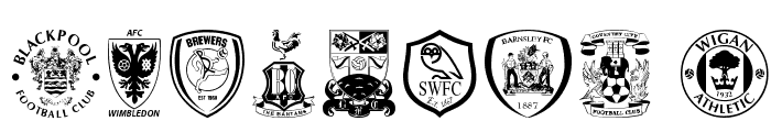 English Football Club Badges Font OTHER CHARS