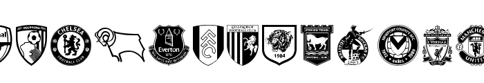 English Football Club Badges Font UPPERCASE